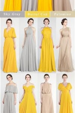 Long chiffon bridesm
