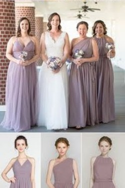 Mauve bridesmaid dre
