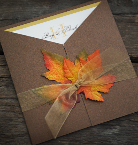 Leaf invitation